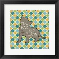 Framed Cat Sayin II