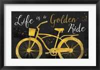 Framed Golden Ride III Dark