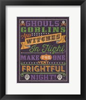 Framed Halloween Talk II Color Purple