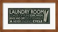 Framed Laundry Room I