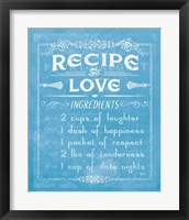 Framed Life Recipes I Blue