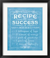 Framed Life Recipes II Blue