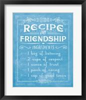 Framed Life Recipes III Blue