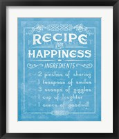 Framed Life Recipes IV Blue