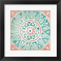Framed Ocean Tales Tile VII Coral