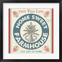 Framed Sweet Farmhouse I