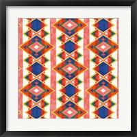 Framed Wild Wood Tiles IV Bright