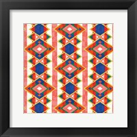 Framed Wild Wood Tiles IV Bright