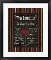 Framed Wine Enthusiast II