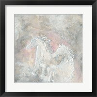 Framed Blush Horses I