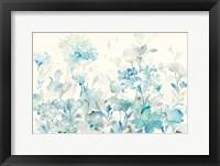 Framed Translucent Garden Blue Crop
