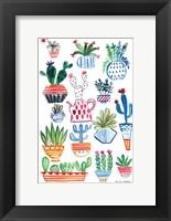 Framed Funky Cacti I