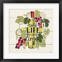 Wine and Friends VII Framed Print