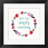 Framed Simply Amazing I Blue and Blush