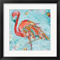 Framed Flamingo Bright