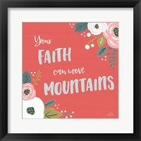 Framed Wildflower Daydreams V Move Mountains Red