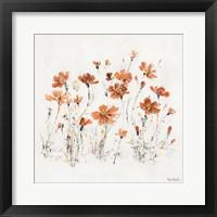 Framed Wildflowers III Orange