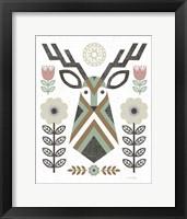 Framed Folk Lodge Deer II Hygge