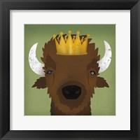 Framed Buffalo III with Crown