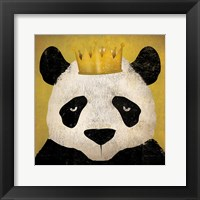 Framed Panda with Crown
