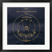 Framed Geography of the Heavens IX Blue Gold