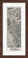 Framed Roma Map Panel in Wood
