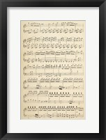 Framed Musical Notes I