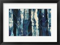 Framed Deep Woods III Indigo
