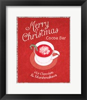 Framed Chalkboard Christmas Signs IV on Red