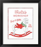 Framed Chalkboard Christmas Signs I on White