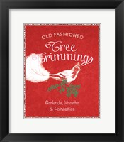 Framed Chalkboard Christmas Signs III on Red