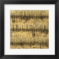 Framed Golden Trees III Taupe Pattern II