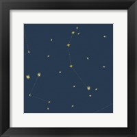 Framed Night Sky Navy and Gold Pattern 05A