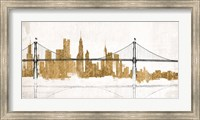Framed Bridge and Skyline Gold