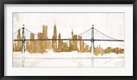 Framed Bridge and Skyline Gold
