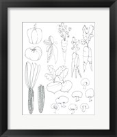 Framed Line Art Veggies