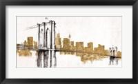 Framed Skyline Crossing Gold
