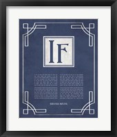 Framed If by Rudyard Kipling - Ornamental Border Blue