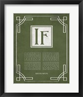 Framed If by Rudyard Kipling - Ornamental Border Green