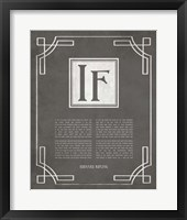 Framed If by Rudyard Kipling - Ornamental Border Gray