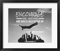 Framed Encourage One Another - Celebrating Team Grayscale
