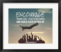 Framed Encourage One Another - Celebrating Team