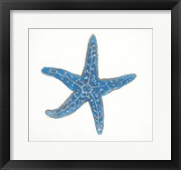 Navy Starfish Framed Print