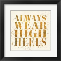 Shoe Fetish Quotes II Light Framed Print