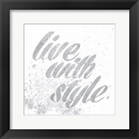 Show Fetish Quotes III Light Silver Framed Print
