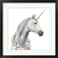 Framed Spirit Unicorn I Square