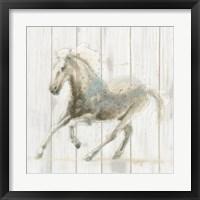Framed Stallion II on Birch