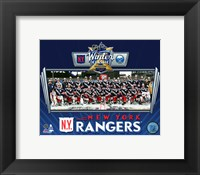 Framed New York Rangers Team Photo 2018 NHL Winter Classic