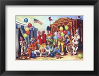 Framed Ten Clowns