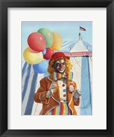 Framed Clown Balloons